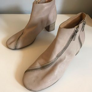 Acne Booties with Unique Zippers